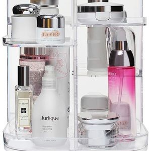 Clear makeup organizer, 360 degree rotating